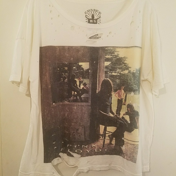 09f94930 Chaser Tops | Urban Outfitters Distressed Pink Floyd Tee Shirt ...